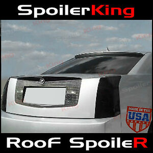 284r Fits Cadillac Cts 2004 2007 Rear Window Roof Spoiler Polyurethane Wing