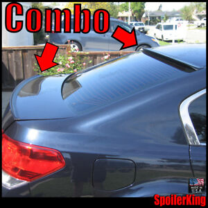 Combo Spoilers fits Subaru Legacy 2010 14 Rear Roof Wing Trunk Lip