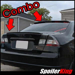 Combo Spoilers Fits Civic 2001 05 4dr Rear Roof Wing Trunk Lip 284r 244l