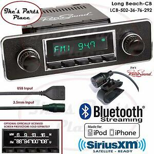Retrosound Long Beach Cb Radio Bluetooth Ipod Usb Mp3 Rds 3 5mm Aux In 502 36 Mb