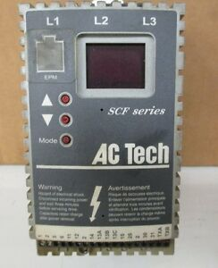 Ac Tech Sf205y Variable Speed Ac Motor Drive 0 5 Hp 208 240v 3ph 50 60hz