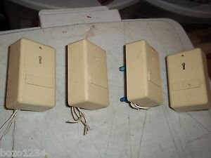 4pcs Vintage Ademco Fire Alarm Security System Part 270 1 Hold Up Switch Wired