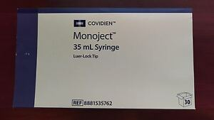 Md47 New Box 30 Covidien Monoject Syringe 35ml Luer Lock Tip 8881535762 Sterile