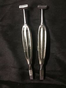 8 Alexander Periosteal Rib Rasp Medical Instrument Stainless Steel Lot Of 2
