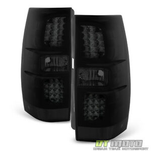 Blk Smoked 2007 2014 Chevy Suburban Tahoe Yukon Led Tail Lights Lamps Left right