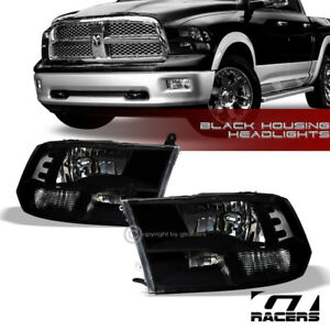 Quad Lamps For 2009 2018 Dodge Ram Factory Style Black Headlights Signal Nb