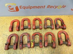 Kuplex Accoloy 1 2 Coupling Links Hammerlock D ring Shackle Clevis Lot Of 10