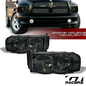 For 2002 2005 Dodge Ram 1500 2500 Smoke Housing Headlights Corner Signal Lamp Nb