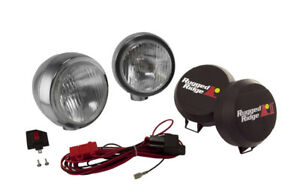 Rugged Ridge 15206 52 Stainless Housing Pair 5 Round Hid Off Road Fog Light Kit
