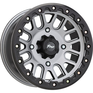 Set 4 14x7 4x1 4x156 Rage Atv One One Gun Metal Wheels Rims 14 Inch 46748