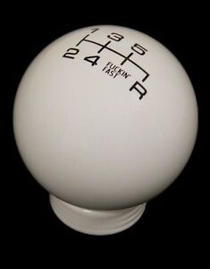 Vms White Black Fing Fast Shift Knob 6 Speed Short Throw Shifter Lever M10x1 5