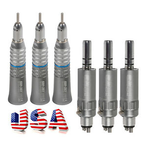 3x Nsk Style Dental Slow Low Speed Straight Handpiece E type Air Motor 4 Hole