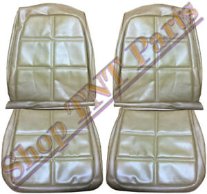 1969 Dodge Charger Seat Covers Saddle Tan Front Bucket Upholstery Skins