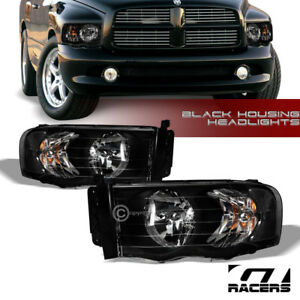 For 2002 2005 Dodge Ram 1500 2500 Black Housing Headlights Corner Signal Lamp Nb