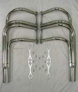 T bucket Roadster Small Block Chevy 327 350 400 Stainless Exhaust Headers Sbc