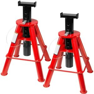1 Pair Heavy Duty Jack Truck Semi Stands High Lift 10 Ton Pin 28 To 47 Lift New