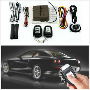 8 Pcs Car Offroad Alarm Start Security System Key Passive Keyless Entry Push Kit