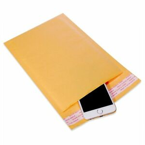 250 Pcs 5x10 Premium Kraft Bubble Lined Envelope Mailers Mailing Pouch