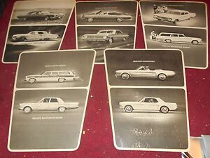 1965 Ford Mustang Fairlane Falcon Galaxie Thunderbird Showroom Wall Signs Set
