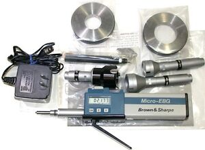 Brown Sharpe Inside 1 2 1 8 Electronic Micro ebg 0001 Bore Gage Set 599 280