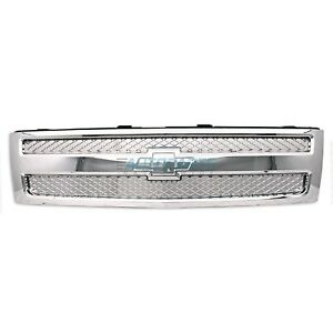 New Front Grille Fits 2007 2013 Chevrolet Silverado 1500 Gm1200655