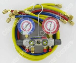 Yellow Jacket 49977 Titan 4 v Manifold Gauges W hoses