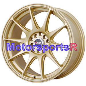 Xxr 527 18 Gold Concave Rims Staggered Wheels 5x4 5 98 99 04 Ford Mustang Cobra