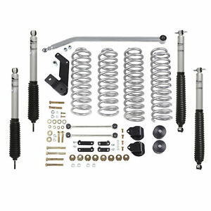 Rubicon Express 3 5in Standard Lift Kit R E Mono Tube Shocks Re7142m