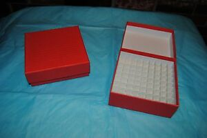 Freezer Box 2 Cardboard 81 place Fits 1 0ml And 2 0ml Cryoclear Vials 96 cs