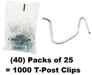 40 Ea Mat 901169b 25 Packs T post Fence Post Clip Fasteners