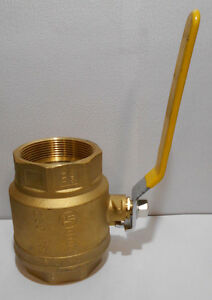 3 Npt Brass Full Port Ball Valve 250 Psi