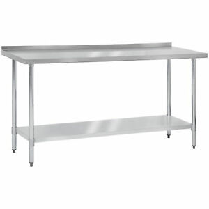 72 X 24 Stainless Steel Work Prep Table W Backsplash Commercial Kitchen