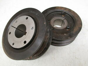 V belt Pulley 2b48sds With 3 8 Taper Lock Bushing lot Of 2