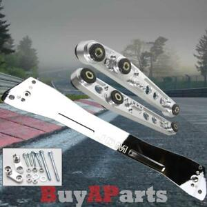 Chrome Jdm Rear Lower Control Arm Subframe Brace Tie Bar Kit Honda Civic 92 95
