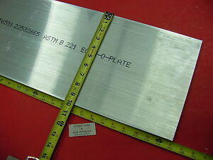 1 2 X 10 Aluminum 6061 Flat Bar 25 Long Solid T6511 New Mill Stock Plate 50