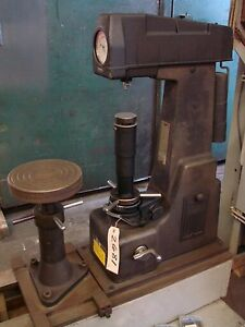 Wilson 4 jr Rockwell Hardness Tester 12 Cap With Jack Rest Anvils Test Blocks