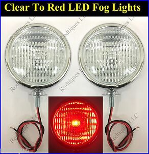 12 Volt Clear To Red 5 Lights Fire Truck Police Show Car Ambulance Fog Driving