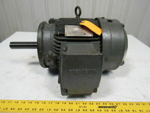 Siemens Rgzsd 7 1 2 Hp Severe Duty Ac Electric Motor 1735rpm 230 460v 213tc