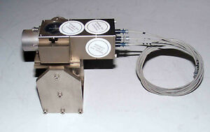 Hewlett Packard Model 10737r 3 axis Interferometer With Cables And Stand