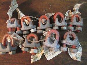 9 Wire Cable Rope Clamps 3 4 New Cm Usa Made Fr 289