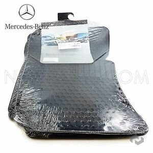 Mercedes W212 W218 Floor Mat Front Rear Set All weather Black Genuine Q6680710