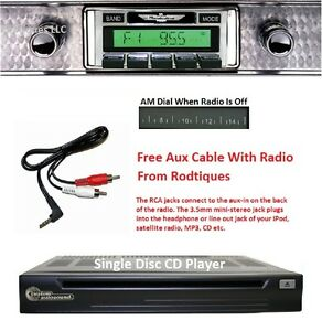 1955 Ford Thunderbird Stereo Radio Free Aux Cable Included Cd Player 630cd