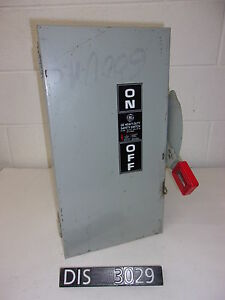 Ge 600 Volt 100 Amp Non Fused Disconnect Safety Switch dis3029