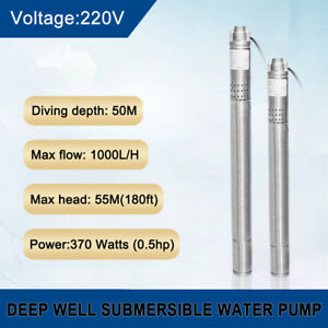 2 50mm 220v Submersible Bore 0 5hp Water Pump Deep Well Pump Farm Watering