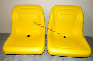 2 Yellow Vinyl Seats John Deere Gator Model E gator Cs Cx 4x4 Trail Hpx Te Pair