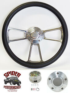 1967 1968 Nova Chevy 2 Steering Wheel 14 Polished Billet Steering Wheel