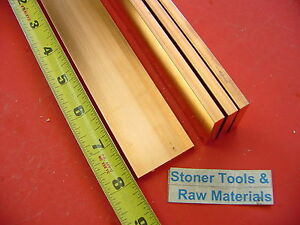 4 Pieces 1 4 x 1 1 2 C110 Copper Bar 8 Long Solid Flat Bus Bar Stock H02