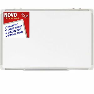 Dry Erase Board 24x36 Large Magnetic Whiteboard With Aluminum Frame Dryerase