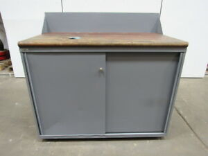 Lista 13 Drawer Industrial Tool Parts Storage Cabinet Butcher Block Top 56 x30