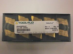 10pc Toolflo Fla 4r6 Gp50 Top Notch Carbide Acme Threading Inserts Na 4r6
